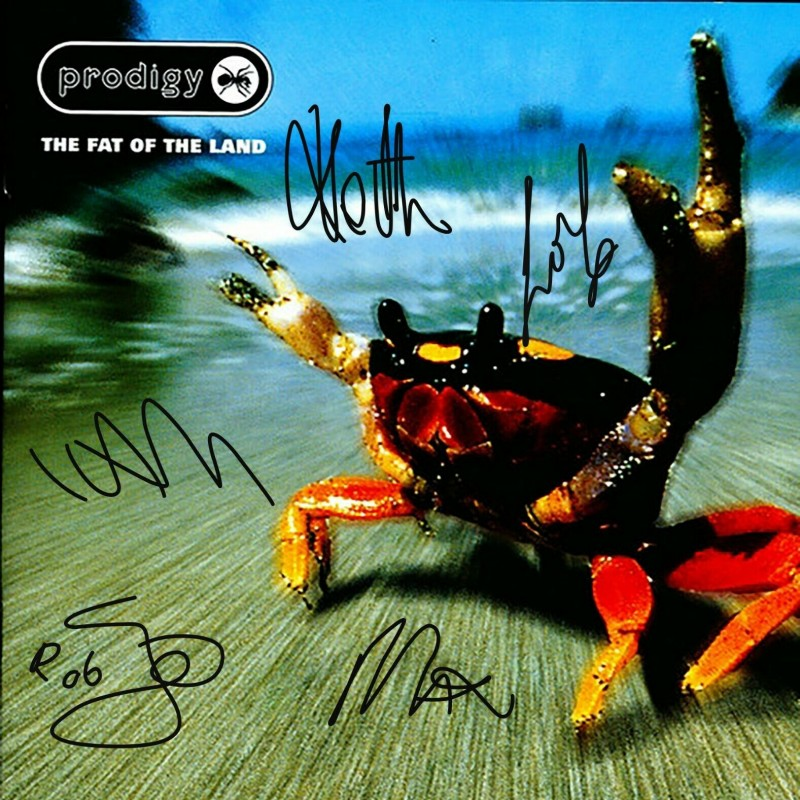 Prodigy Album Cover Flat with Digital Autograph