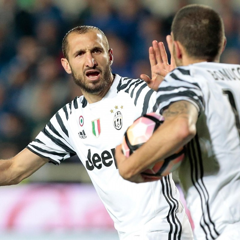 Chiellini Juventus Issued Shirt, TIM Cup Final - Signed