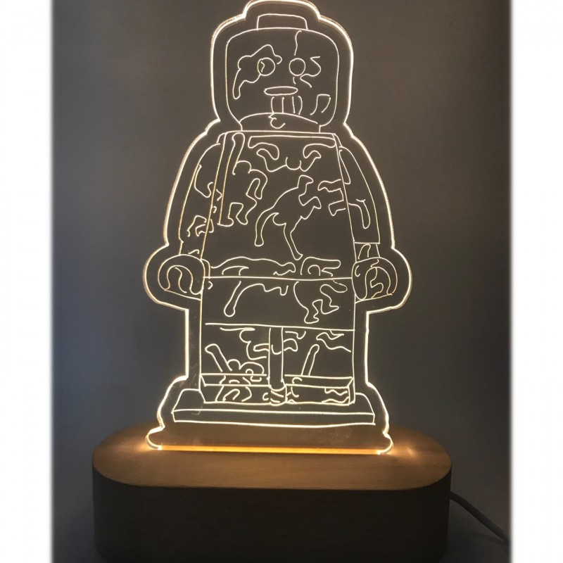"""""""Alter Ego Lamp Keith"""" - Sculpture by Alessandro Piano"""