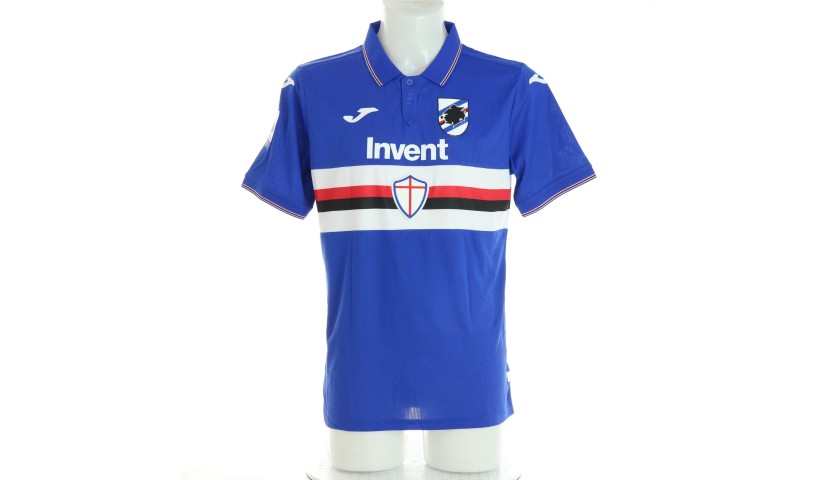Tonelli's Sampdoria Match-Issued Signed Shirt, 2019/20