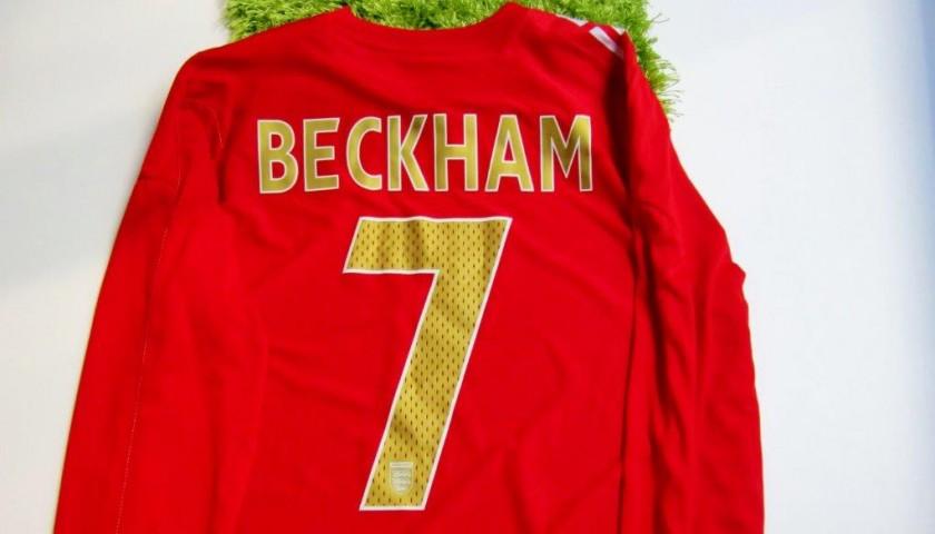 Beckham match worn shirt, England vs. Uruguay 2006