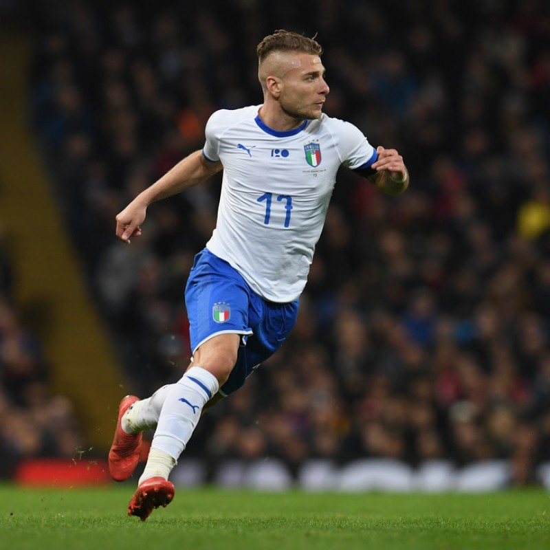 Immobile's Match Shirt, Italy-Argentina 2018 - Special Patch