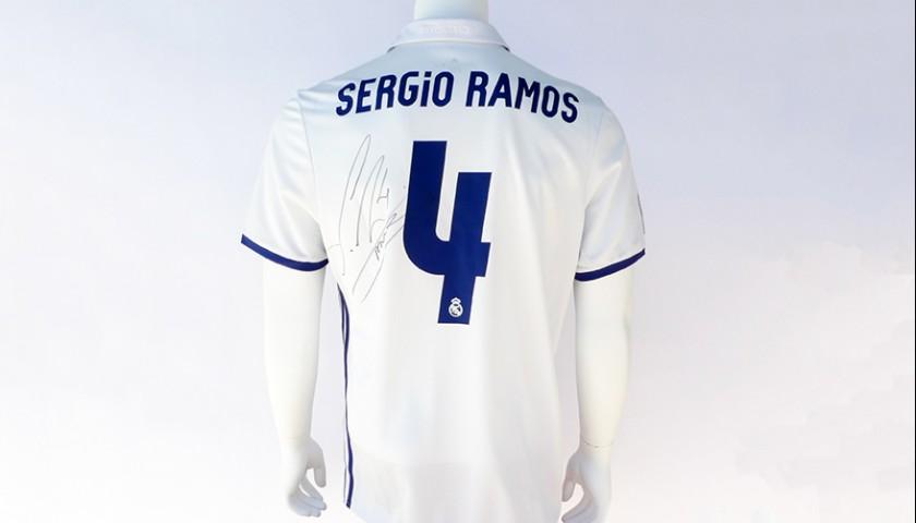 d5dc9d901 Signed Sergio Ramos 2016 17 Jersey - CharityStars