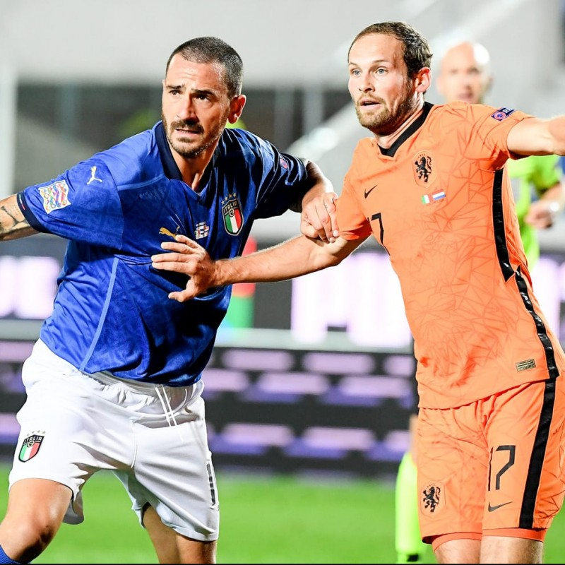 Bonucci's Match Shirt, Italy-Holland 2020