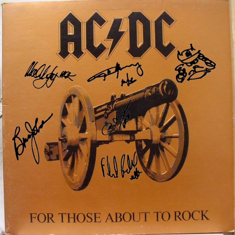 AC/DC Album with Printed Signatures