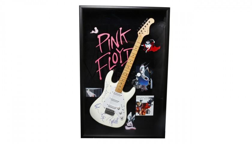 Electric Guitar Signed by Pink Floyd