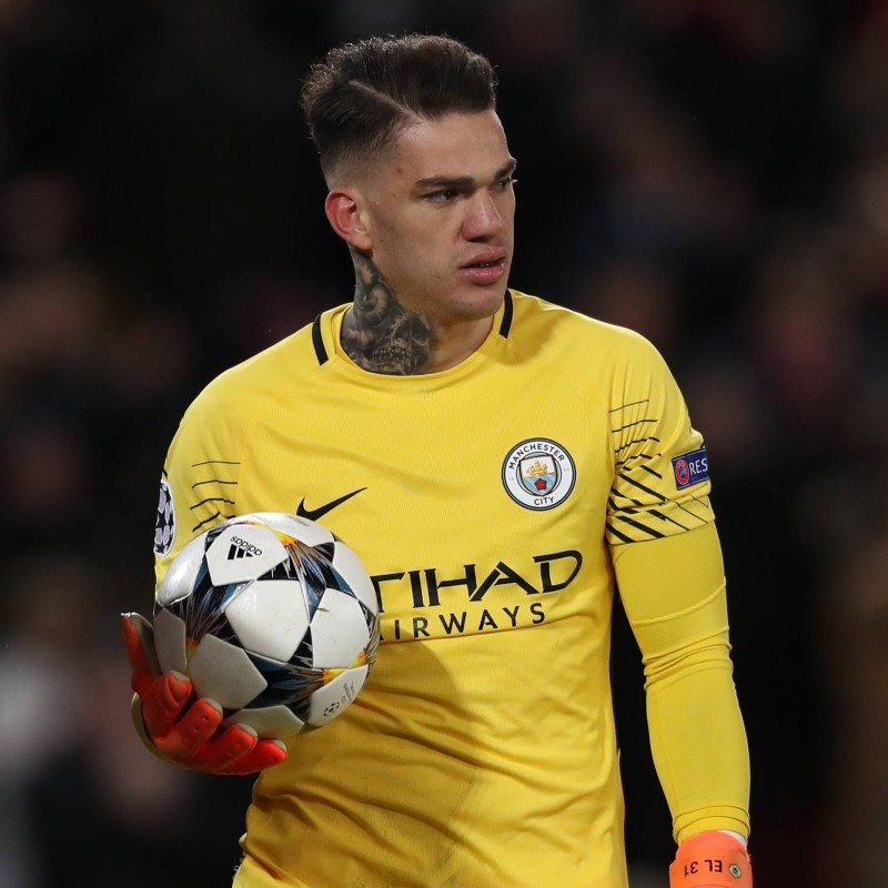 Ederson's Manchester City Match Shorts, Champions League 2018/19