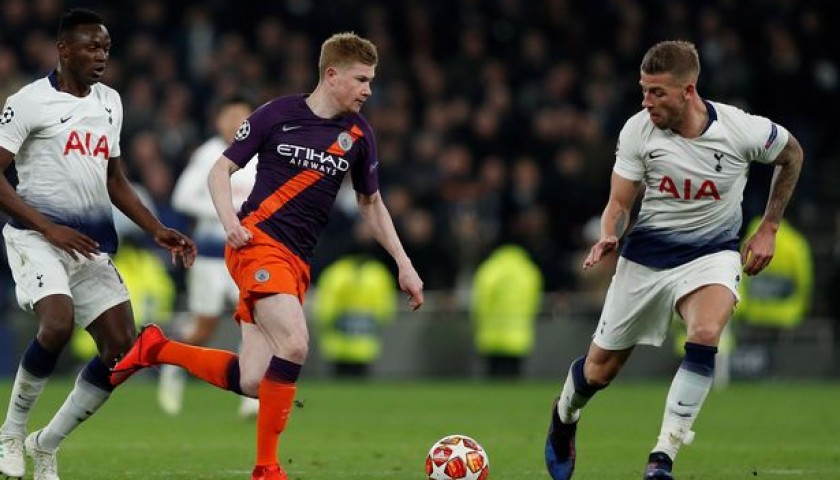 De Bruyne's Manchester City Match Shorts, Champions League 2018/19