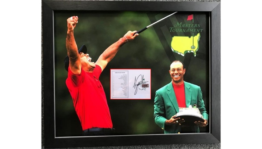 Tiger Woods Masters Golf Signed and Framed Display