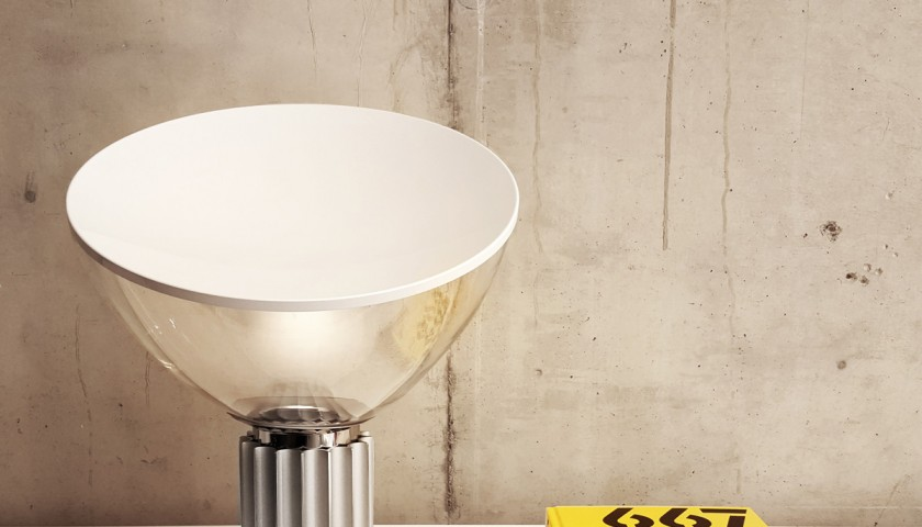 "Silver Flos ""Taccia"" small lamp"