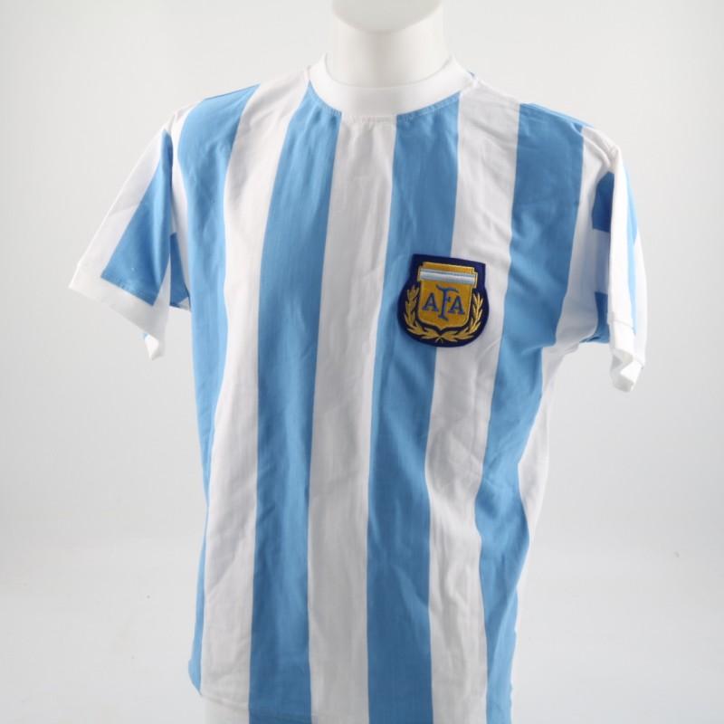 Official Maradona Argentina 1986 Shirt Signed on the Back by Diego Maradona