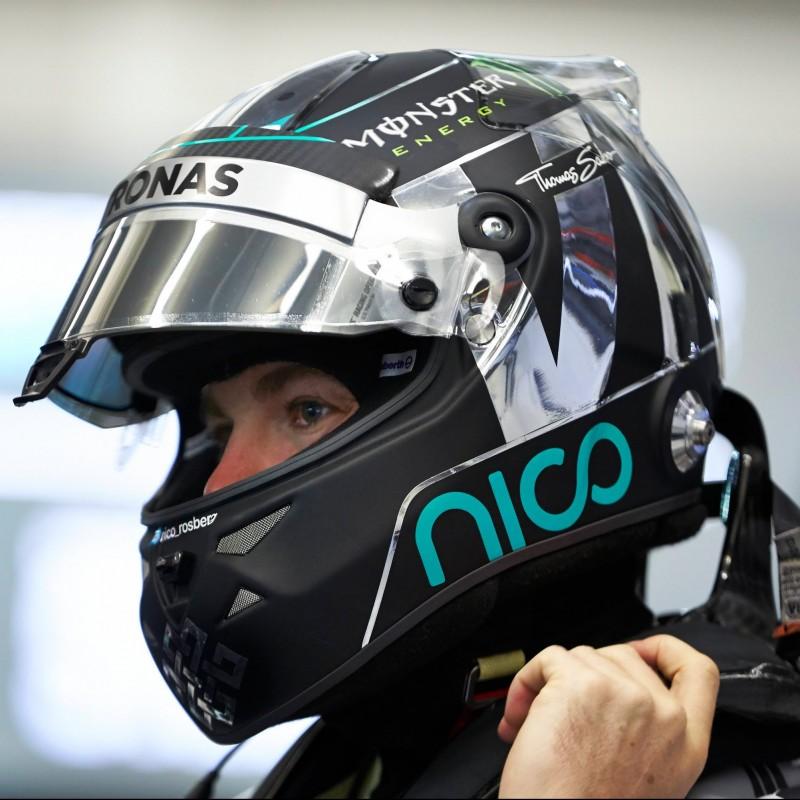 Nico Rosberg Replica Helmet Signed by the Pilot