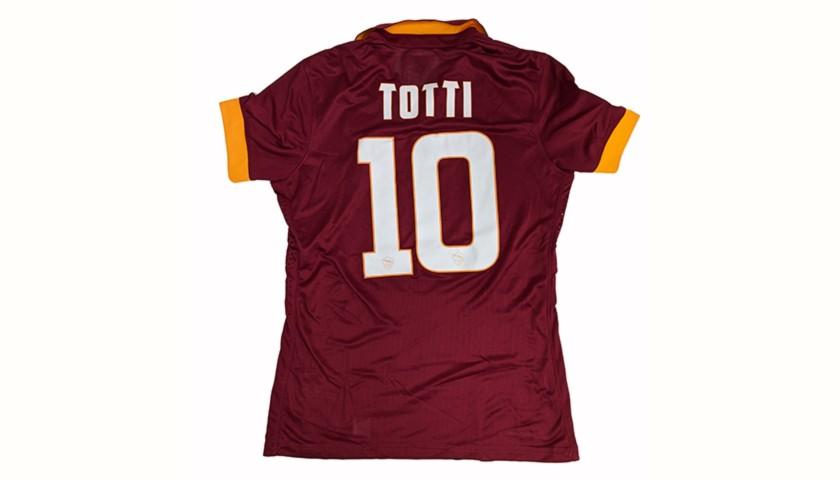Totti's Worn Shirt, Juventus-Roma 2014