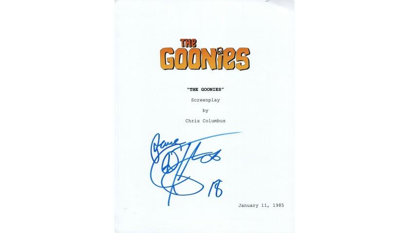 Corey Feldman Hand Signed Goonies Script Cover