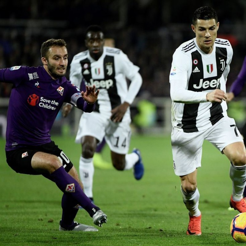 Pezzella's Issued Shirt with Mandela Patch, Fiorentina-Juventus
