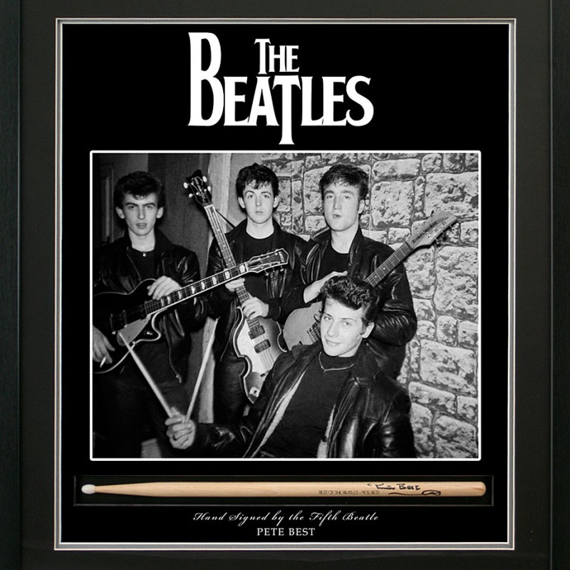 The Fifth Beatle Pete Best, Signed Drum Stick Presentation