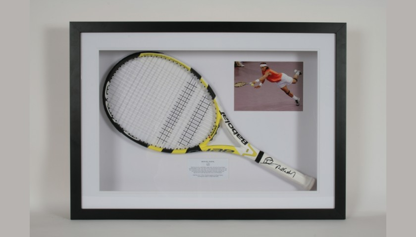 Tennis Racquet Signed by Rafael Nadal