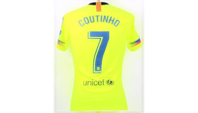 best service 42a53 67b10 Coutinho's Barcelona Match Shirt, UCL 2018/19 - CharityStars