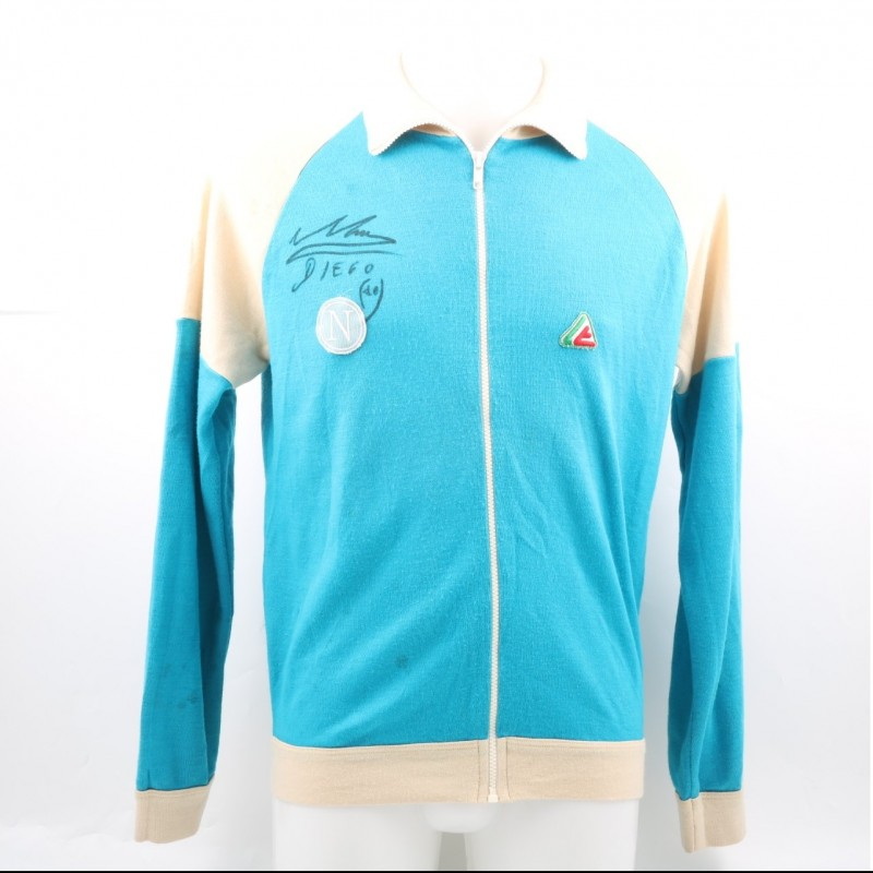 Official 1984/85 Napoli Sweatshirt Signed by Diego Maradona