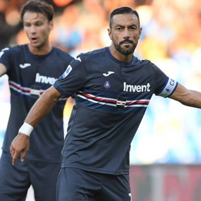 Quagliarella's Sampdoria Match-Issued Signed Shirt, 2019/20