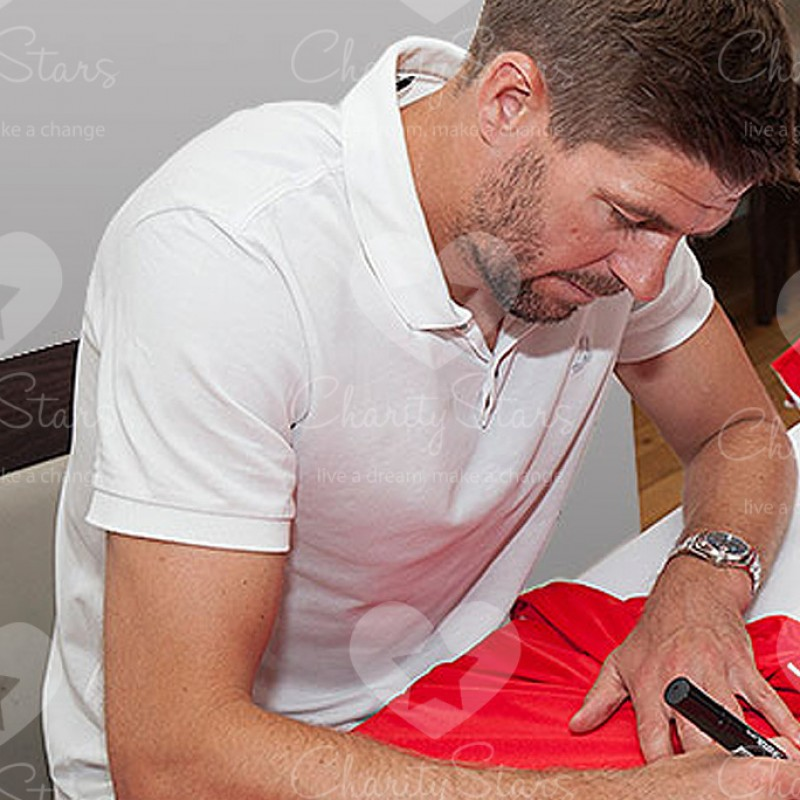Steven Gerrard Signed and Personally Dedicated Liverpool 2015 Home Shirt
