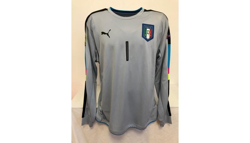 Donnarumma's Italy U21 Match Shirt, 2016 Season
