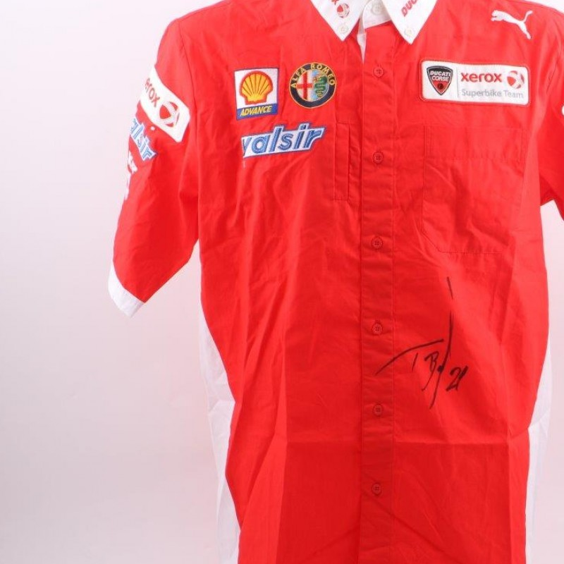 Official Ducati Xerox shirt, signed by Troy Bayliss