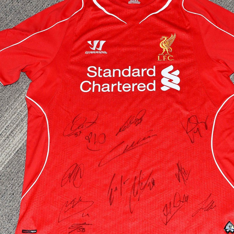 Signed Liverpool FC 2014/15 Home Shirt