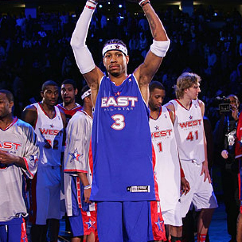 Allen Iverson Signed All-Star Jersey