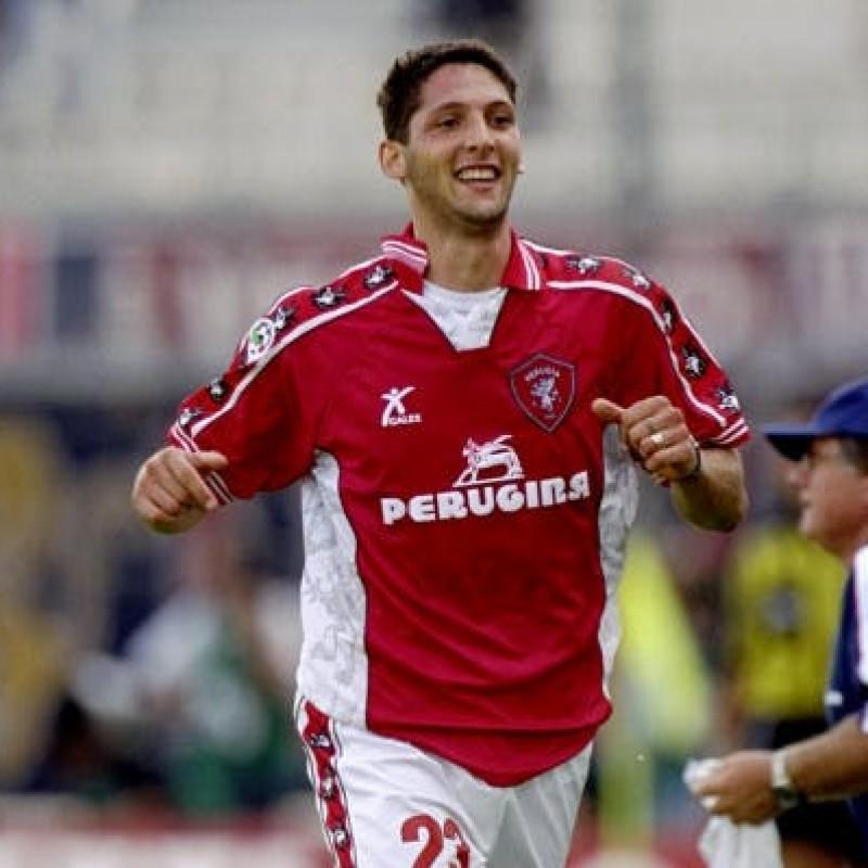 Materazzi's Signed Match-Issued Perugia Shirt, 1999/2000 Season