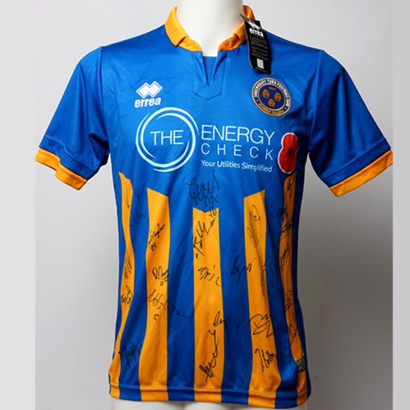 Poppy Shirt Signed by Shrewsbury Town F.C.