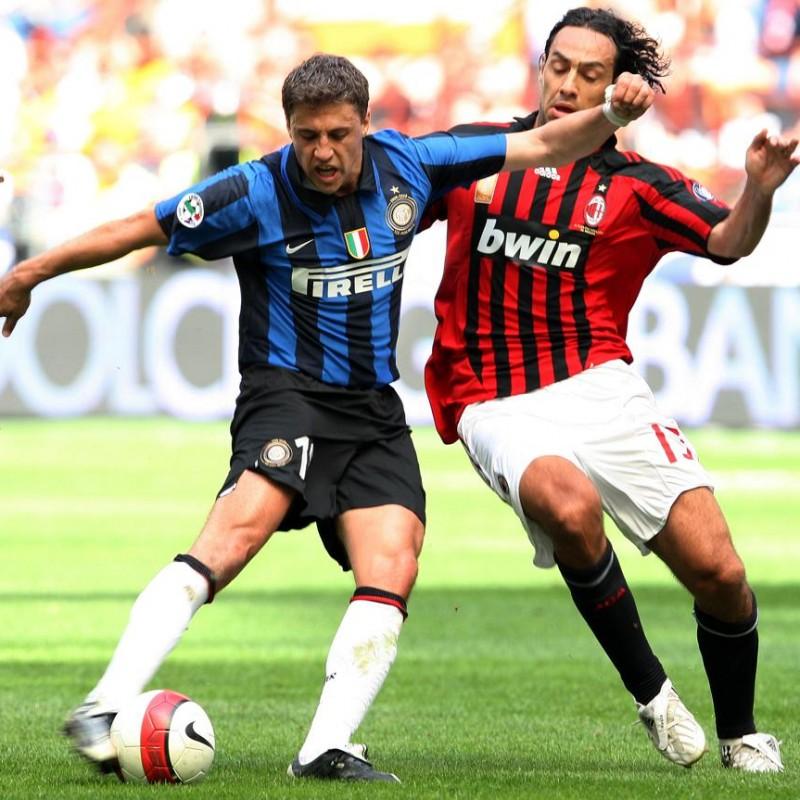 Crespo's 2007/08 Serie A Worn Inter Shirt