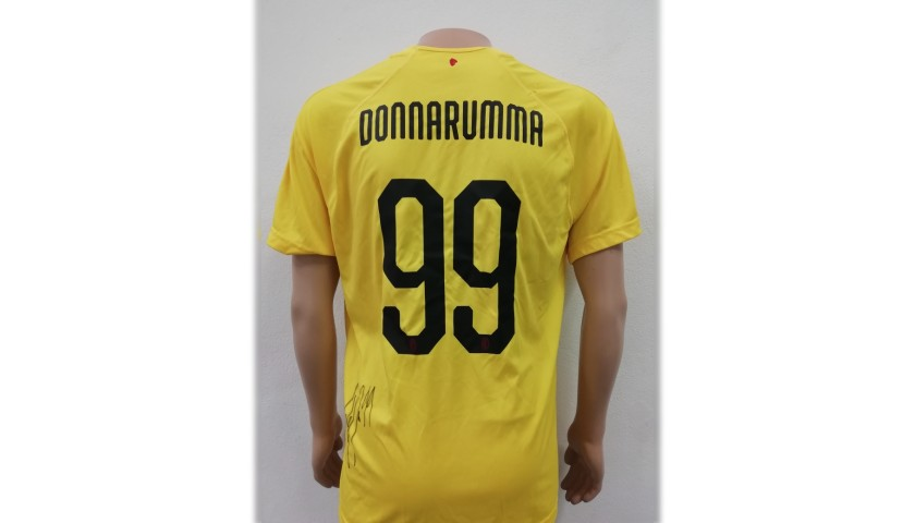 Donnarumma's AC Milan Match-Issue Signed Shirt, 2018/19