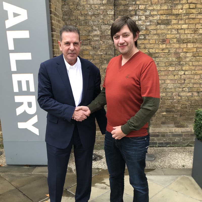 A Meeting with the advertising businessman Charles Saatchi