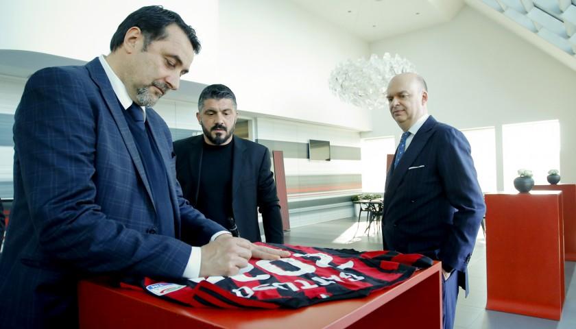 Gattuso's Signed AC Milan Renewal Shirt