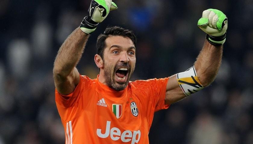 Buffon's Juventus Match Shirt, TIM Cup 2016/17