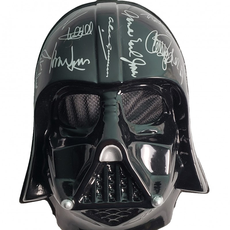 Darth Vader Mask with Printed Signatures
