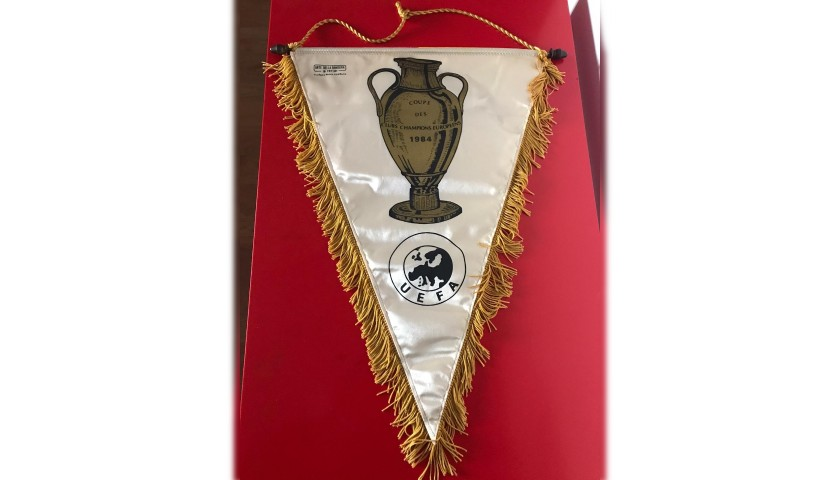 Roma-Liverpool Pennant 1984 - Signed by the Legends