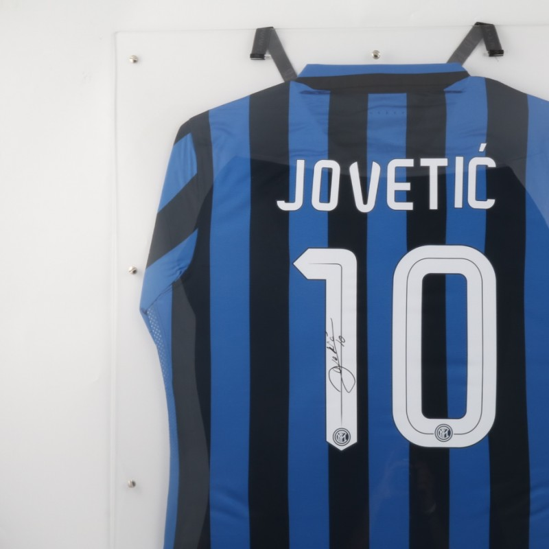 Jovetic Inter signed Shirt With Display Case