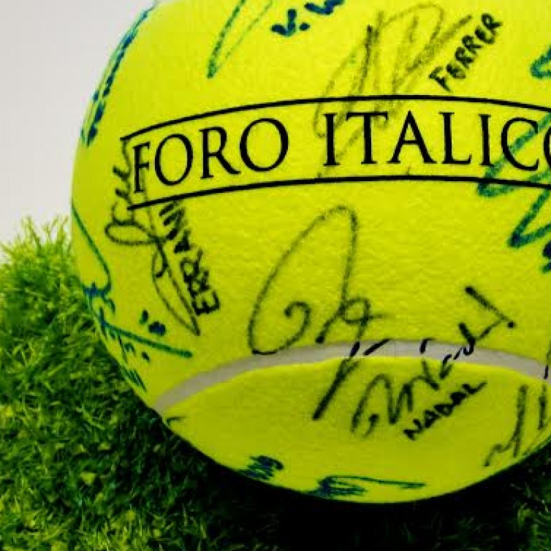 Maxi tennis ball signed by the champions of Internazionali BNL Rome