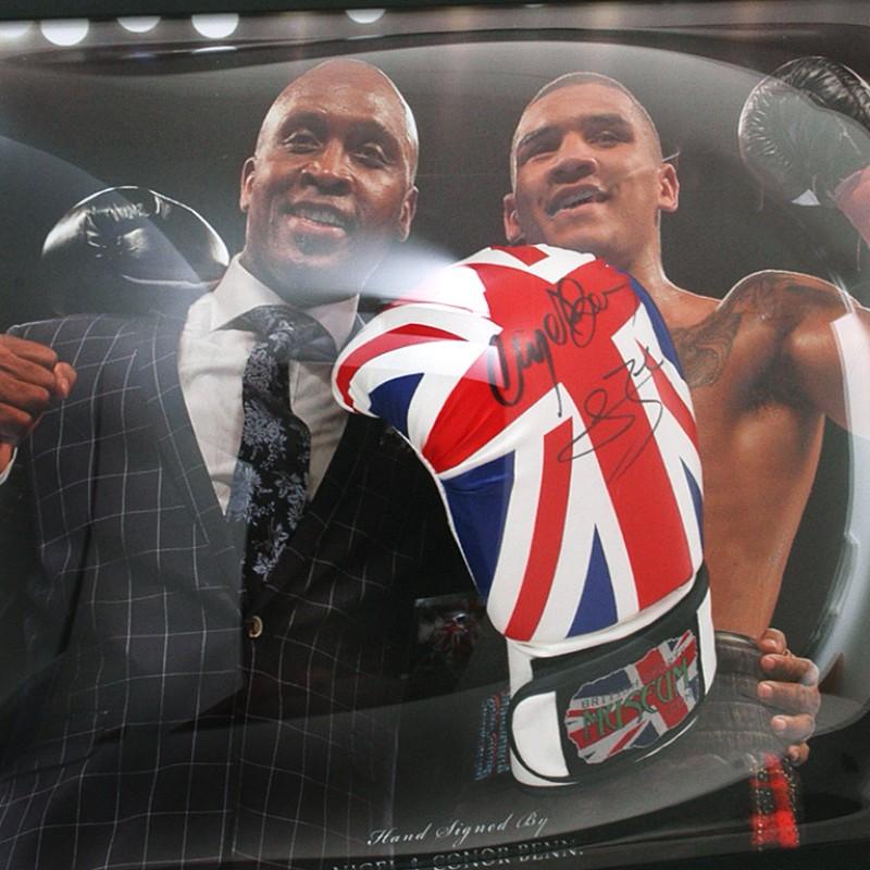 Nigel & Conor Benn Signed Boxing Glove Presentation