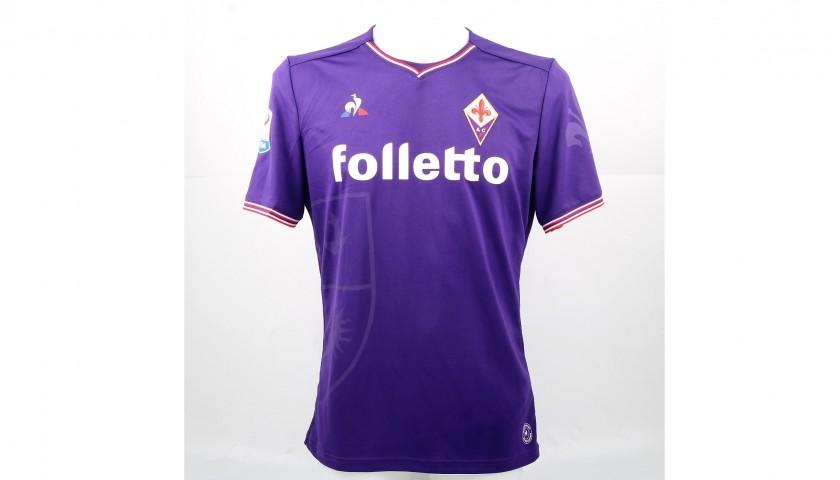 Veretout's Signed Match-Worn Fiorentina-Genoa Shirt, UNWASHED