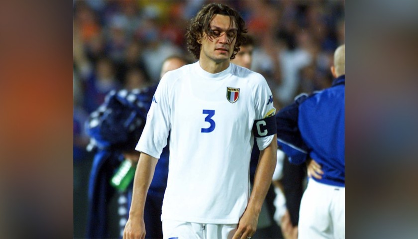 Maldini's Official Italy Signed Shirt, 2002