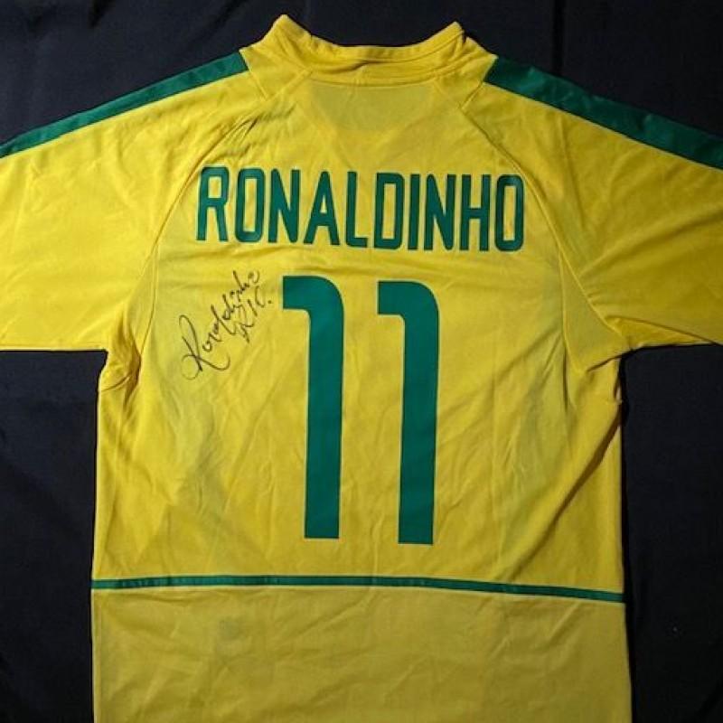 Maglia del Brasile firmata da Ronaldinho