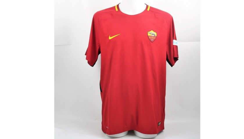 new style ef2d1 e7393 De Rossi's Signed Authentic Roma Shirt, 2017/18 - CharityStars
