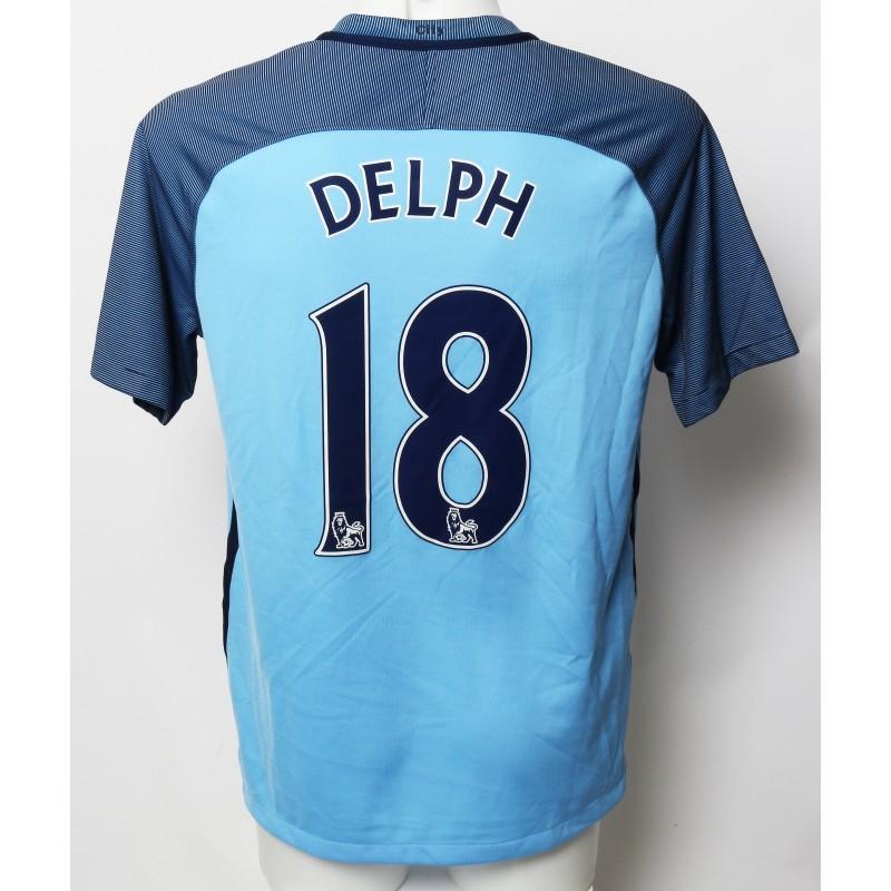 Fabian Delph Manchester City FC Worn Shirt and Shorts from Season 2016 17