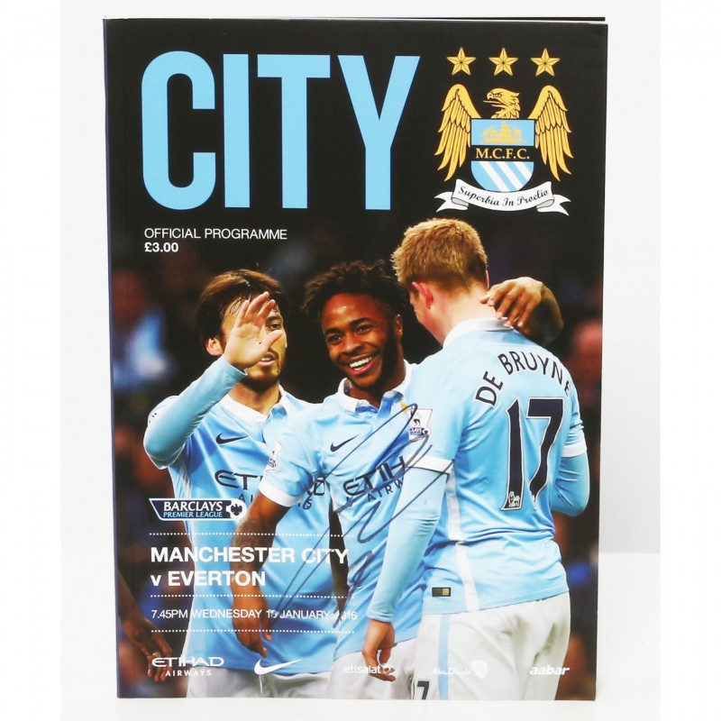 Raheem Sterling Manchester City v Everton Signed Brochure