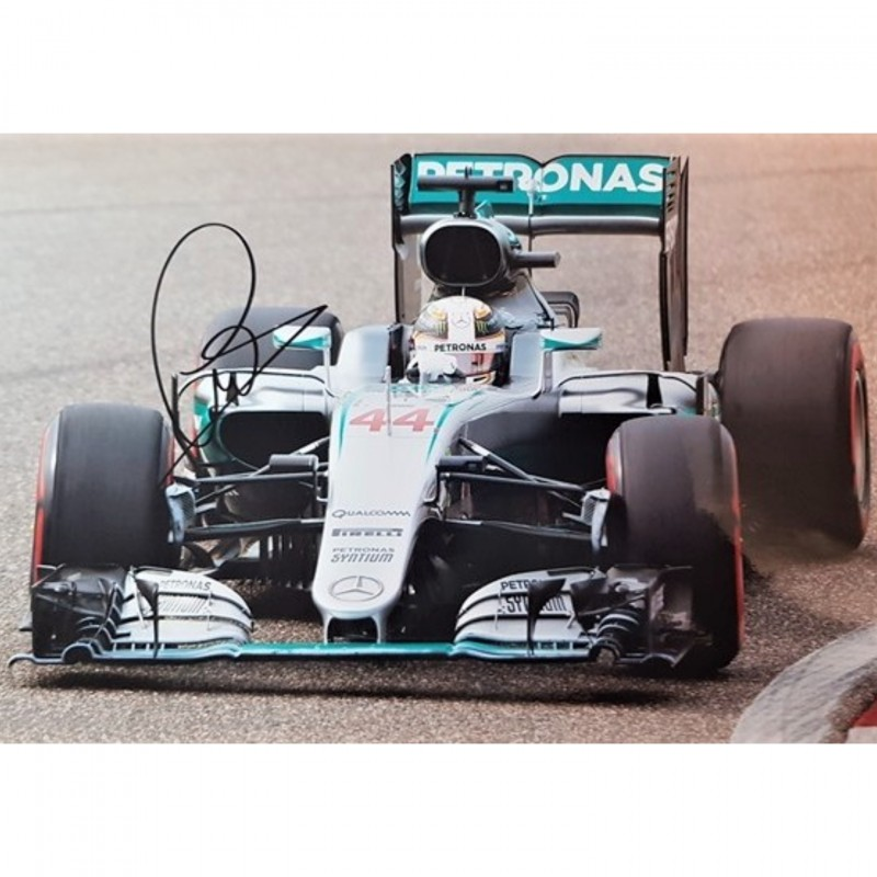 Photograph Signed by Lewis Hamilton
