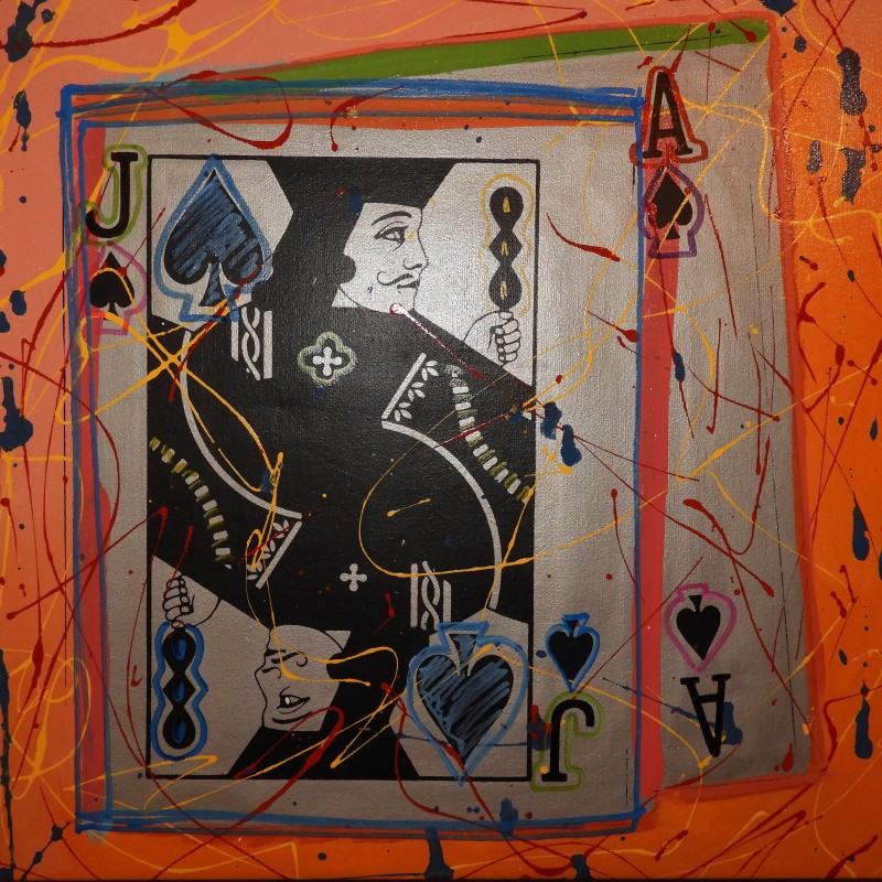 """Black Jack Pollack Style"" by Steve Kaufman"