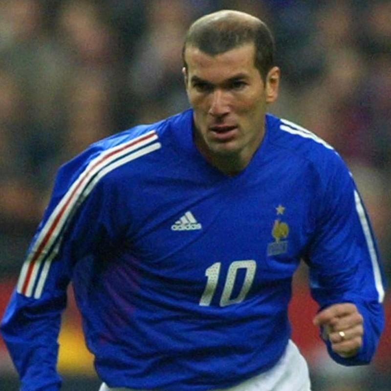Zidane's Official France Signed Shirt, 2001/02